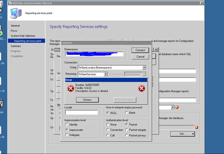 SQL reporting Services not working and we get access denied