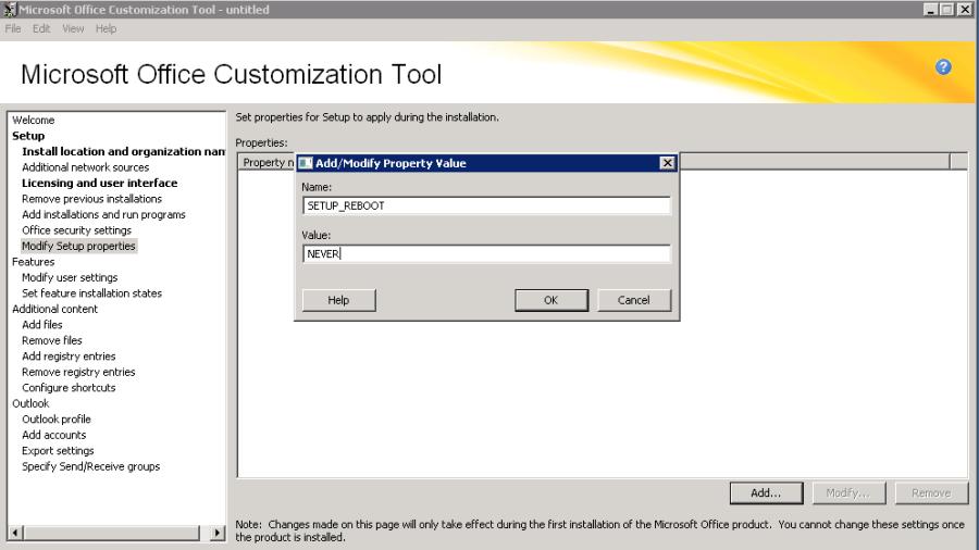 Deploying MS Office 2010 through SCCM 2012 SP1 R2