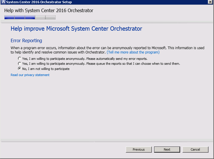 Update Rollup 1 for Microsoft System Center 2016