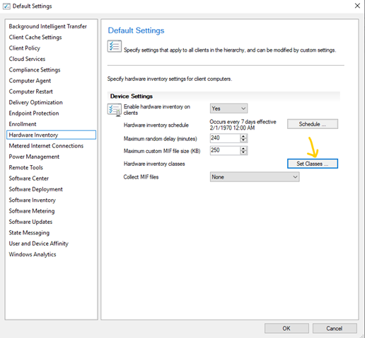 How to get serial numbers of Hard Drive through SCCM